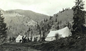 One of Stonebraker's Hunting Camps - Photo Courtesy of University of Idaho Digital Archives
