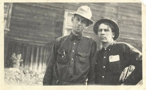 Sumner Stonebraker and an unidentified man at Stonebraker Ranch - Photo Courtesy of University of Idaho Digital Archives
